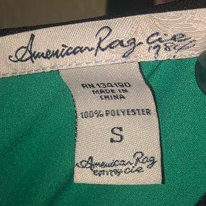 American Rag Tops - NWOT-American Rag Green Navy Collared Blouse